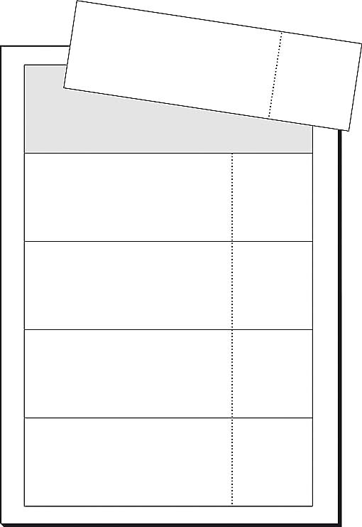 con strappo 20/fogli 100/pezzi Sigel lp714/biglietti d ingresso a forma di stampa 180/X 55/mm