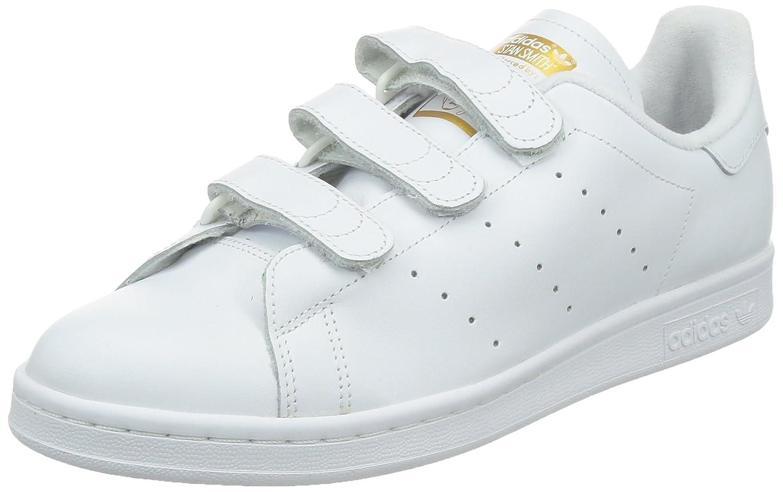 Adidas Stan Smith CF, Zapatillas de Deporte para Hombre 47 1/3 EU|Blanc (Ftwr White/Ftwr White/Gold Met)