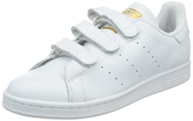 adidas Stan Smith CF, Baskets Homme, Blanc Footwear White/Gold Metallic 0,
