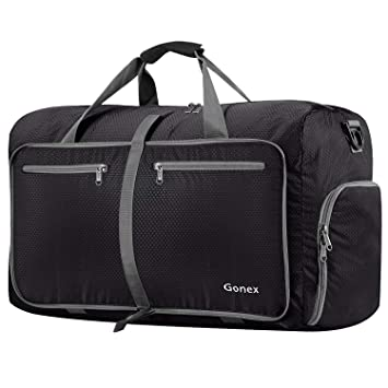 Gonex 80L Foldable Sport Duffels Travel Bag Large Sport Holdall Bag  Packable Gym Bag Lightweight Waterproof 54724a8c433d1