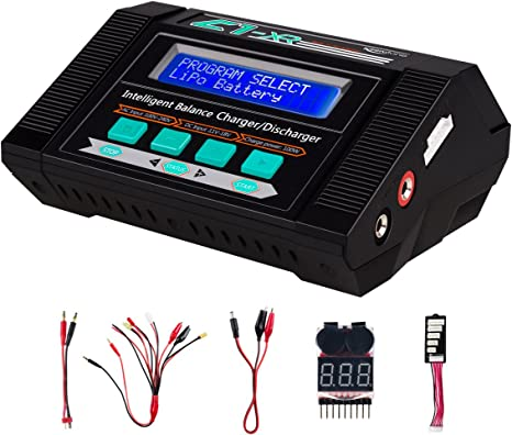 1-15S RC Battery Charger ,NiMH//NiCd ,PB 2-24V 1-6S Lipo Charger,Balance Charger Discharger with Dual Power Supply AC//DC for LiPo//Li-ion//Life Battery