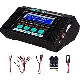 Keenstone Lipo Battery Charger/Discharger with Low Voltage Checker, 10A 100W AC/DC 1S-6S Digital Battery Balance Charger for Li-Po Li-Hv Li-Ion Li-Fe NiMH Ni-Cd Pb