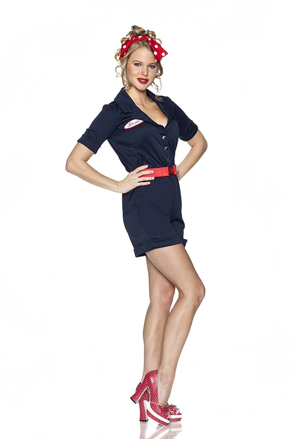 1940s Costumes- WW2, Nurse, Pinup, Rosie the Riveter Delicious Riveting Rosie Costume $60.96 AT vintagedancer.com