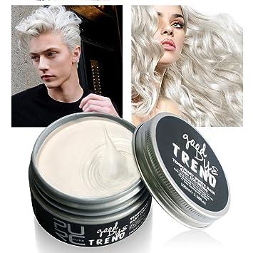 Coloration temporaire pour cheveux blancs