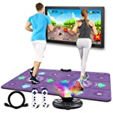 UeeVii Dance Mat for Kids and Adults, Musical Dance Floor Mat w/ HD Camera Game Multi-Function Host,Wireless Handle,Double Cl
