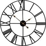 "Sorbus Large Decorative Wall Clock, 24"" Round Oversized Centurian Roman Numeral Style Modern Home Decor Ideal for Living…"