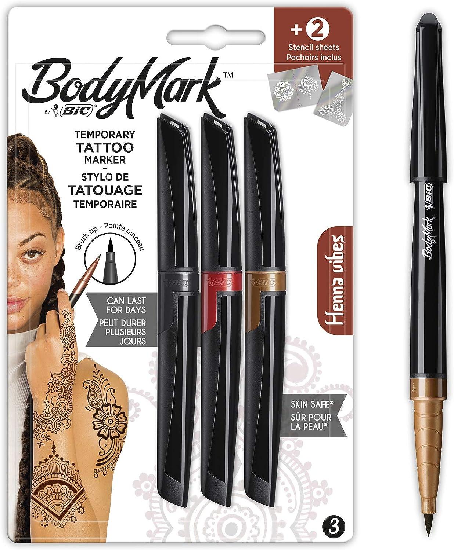 BodyMark by BIC - Marcadores y Plantillas para Tatuajes Temporales ...