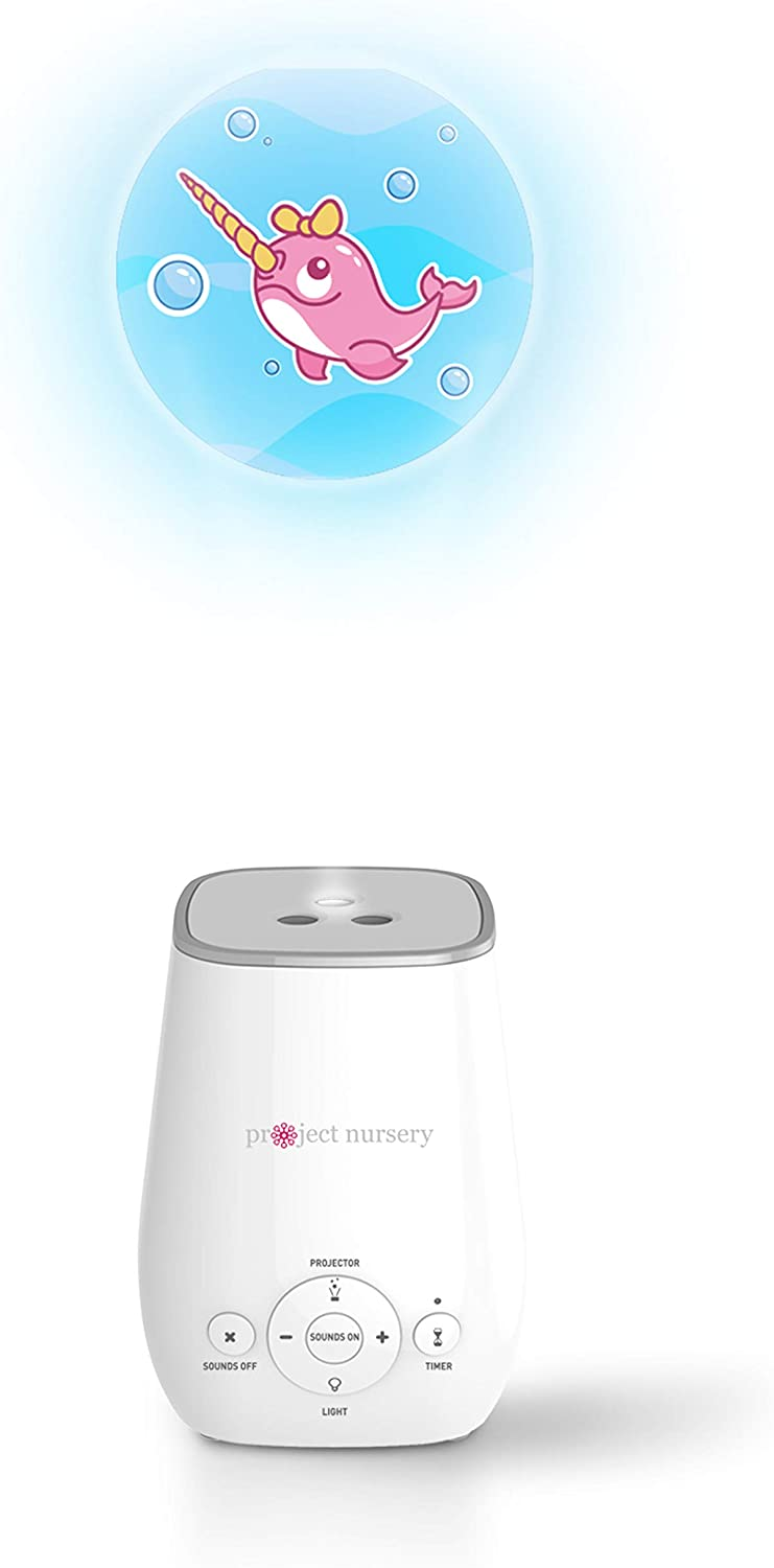 White Noise Sound Machine and Night Light from Project Nursery 4-in-1 Sound Soother with Projector Sleep Soother Nightlight and Timer