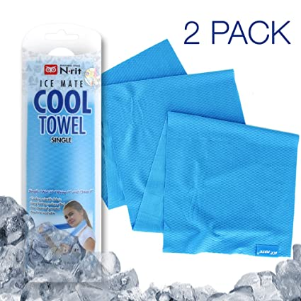 Amazon.com : N-rit 2-Pack Ice Mate Cooling Sport Towel [Blue ...