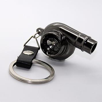 Llavero - Turbo con cinta de piel - Turbocompresor metal Auto Boost colgante llave: Amazon.es: Coche y moto