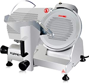 KUPPET Meat Slicer Electric Deli Food Slicer ,Removable 8'' Stainless Steel Blade and Food Carriage, Adjustable Thickness Food Commercial Slicer Machine Coffee Shop/Restaurant/Home ,for Meat/Cheese/Bread (150W)