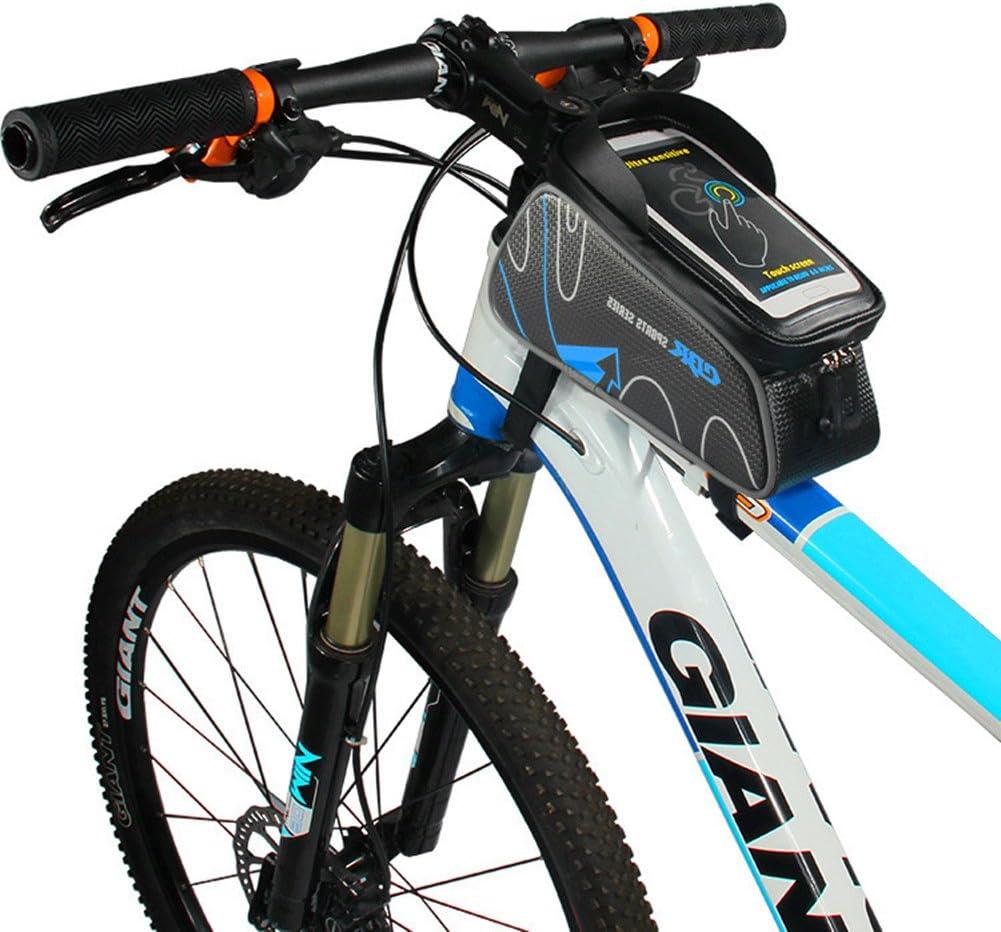 Bicicleta bolsa de manillar, florally bicicleta marco tubo ...