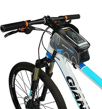 Bike Handlebar Bag Florally Bicycle Frame Top Tube Strap