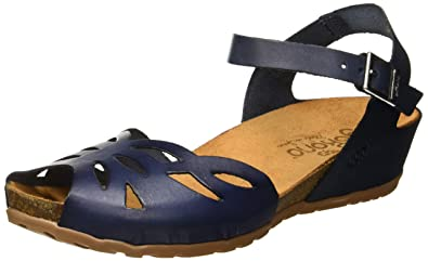 2857ae0d6 Yokono Women s Capri 003 Vaquetilla Ankle Strap Sandals  Amazon.co ...