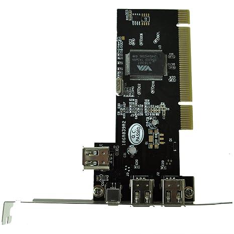 SODIAL(TM) PCI FireWire IEEE 1394 3 + 1 Tarjeta de puerto ...