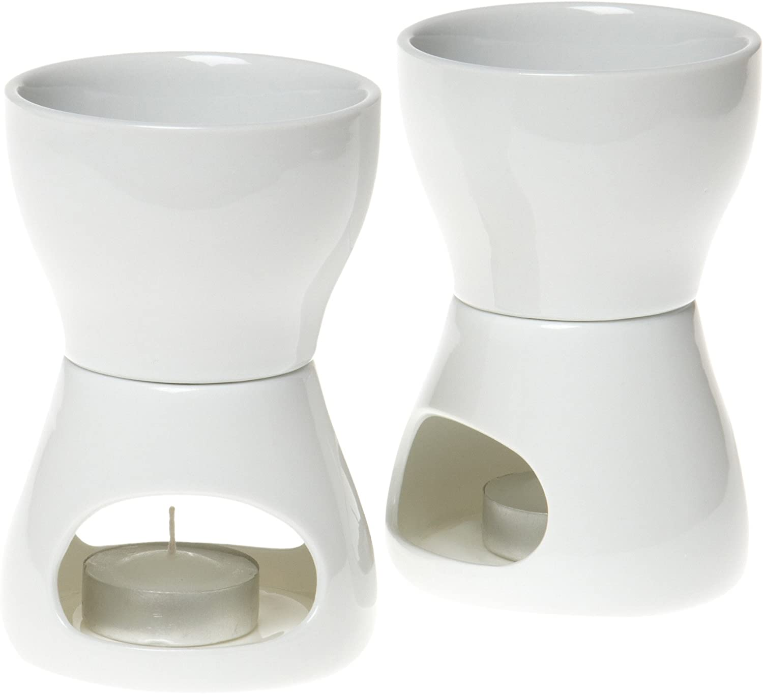 Amazon Com Norpro 213 Porcelain Butter Warmer 2pc Set 4 X 7 X 4 Inches As Shown Dip Warmer Kitchen Dining