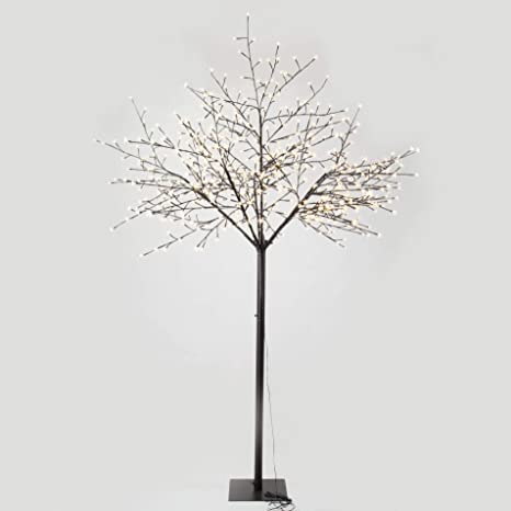 Gojooasis 8 Feet Cherry Blossom Lighted Tree 600 Led Lights Warm White For Christmas Tree Party Wedding And More Festival Decoration Indoor And Outdoor Use Kitchen Dining