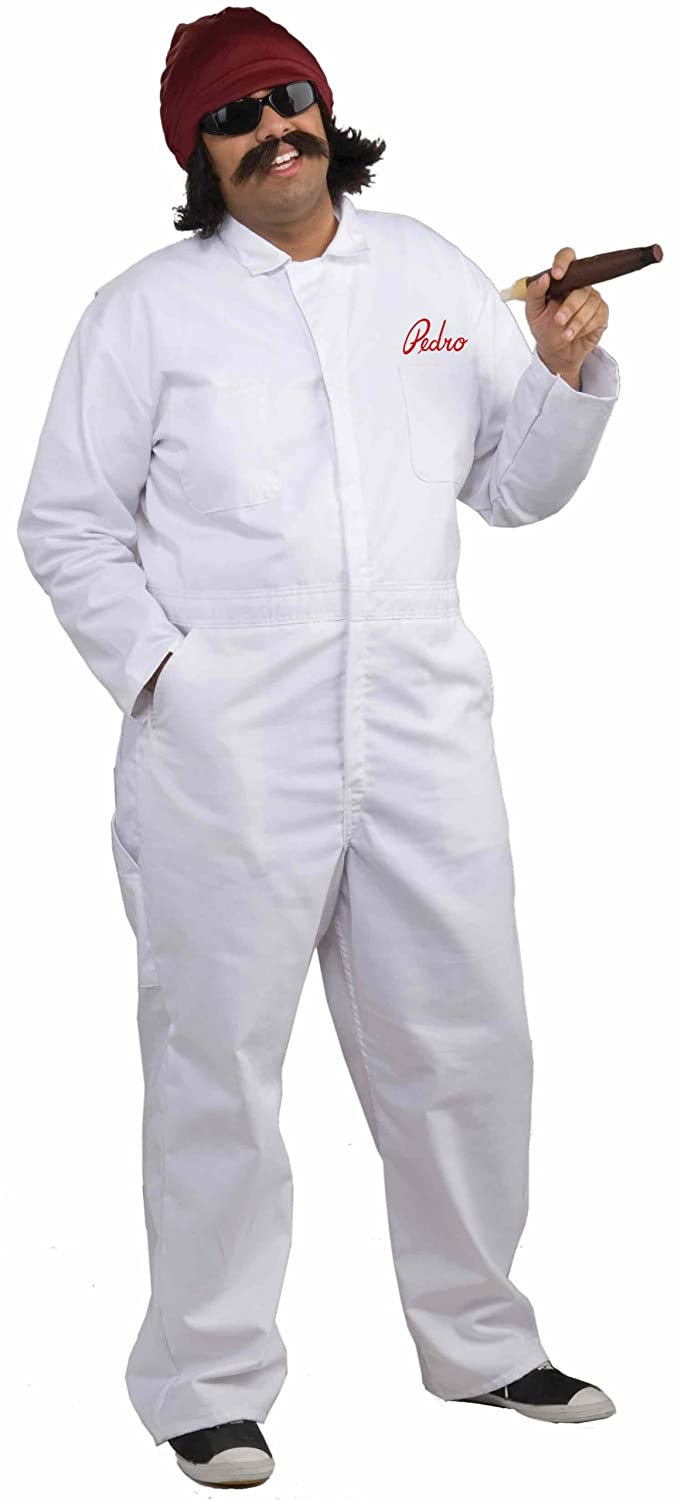 amazoncom mens cheech movers jumpsuit costume white one size clothing