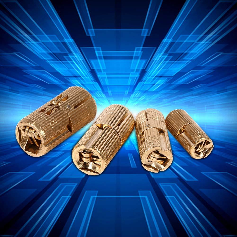 12 mm TOPINCN Bisagra para Puerta de Armario de Cobre Oculta para encimeras 4 Unidades 12 mm proyectos de Bricolaje