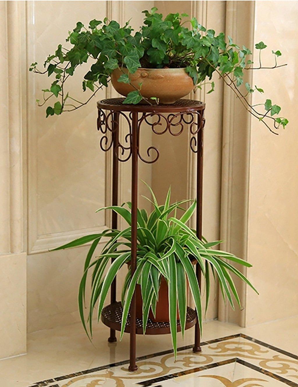 Europäische Stil Blumenregal Kreative Eisen Multilayer Blumenregal Balkon Boden Pflanzer Regal Einfache Moderne Wohnzimmer Indoor Flower Rack (3 Styles verfügbar) ( farbe : A , größe : 30*70CM )