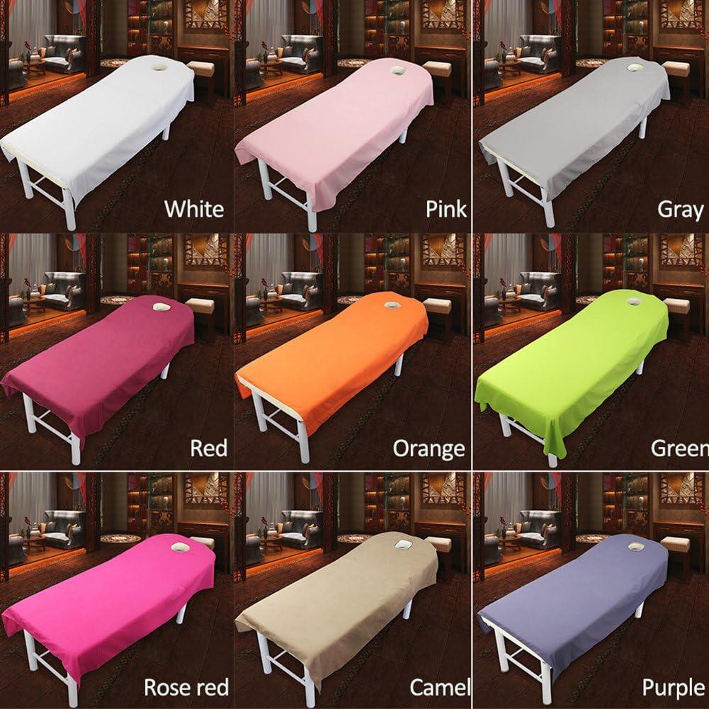 9/couleurs Cosm/étique Salon Drap de lit Housse Spa Massage Traitement Table de lit Motif feuilles avec trou 80cm*190cm #1