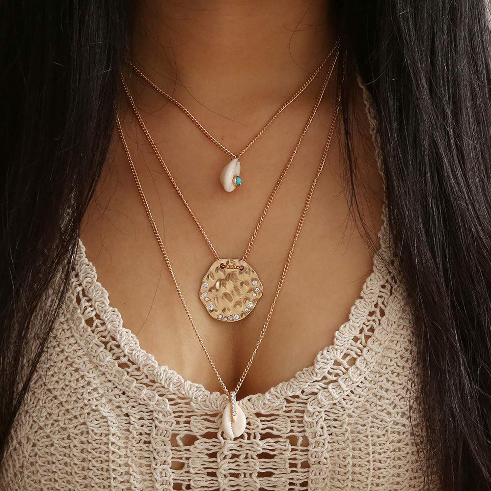 USHOT Women Fashion Cross Pendant Necklace Chain Elegant Jewelry