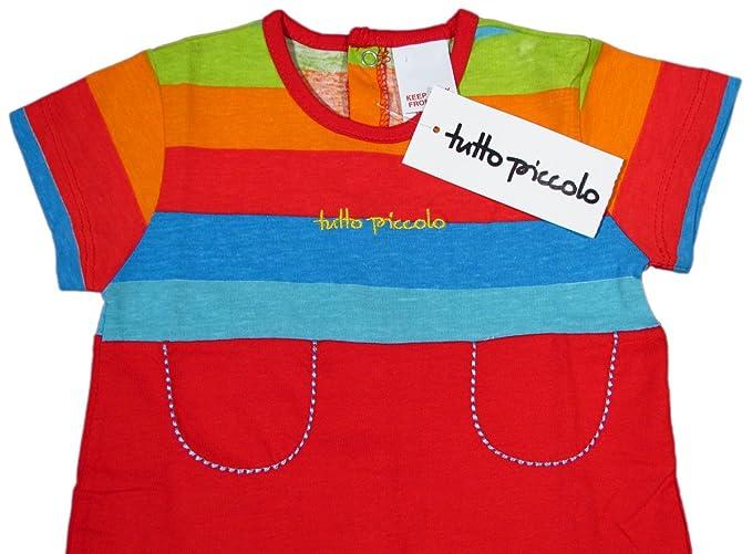 TUTTO PICCOLO - Pelele - Rayas - para bebé niño rojo 12 meses: Amazon.es: Ropa y accesorios