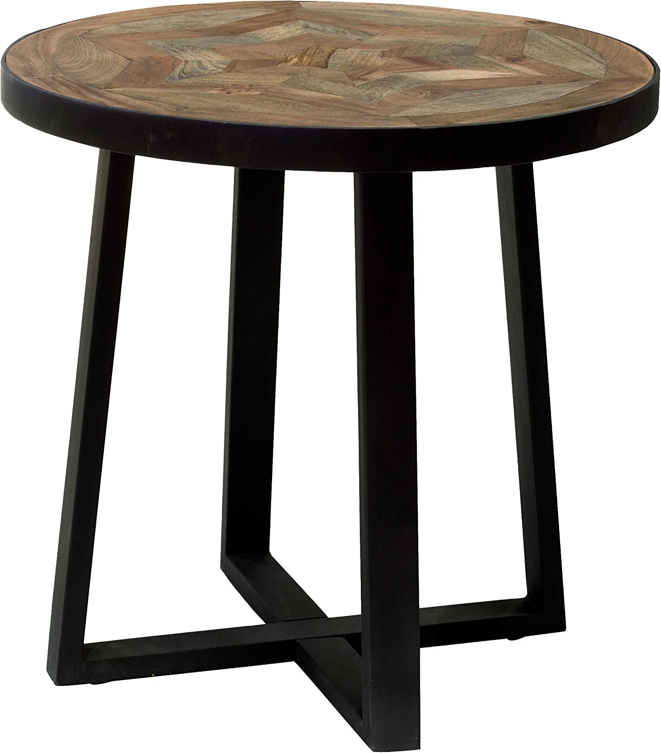 Amazon Com Round Side Table With Mango And Acacia Wood Inlay Star Pattern Metal Base Kitchen Dining Mango wood will only need less finish due to its fine grain. round side table with mango and acacia