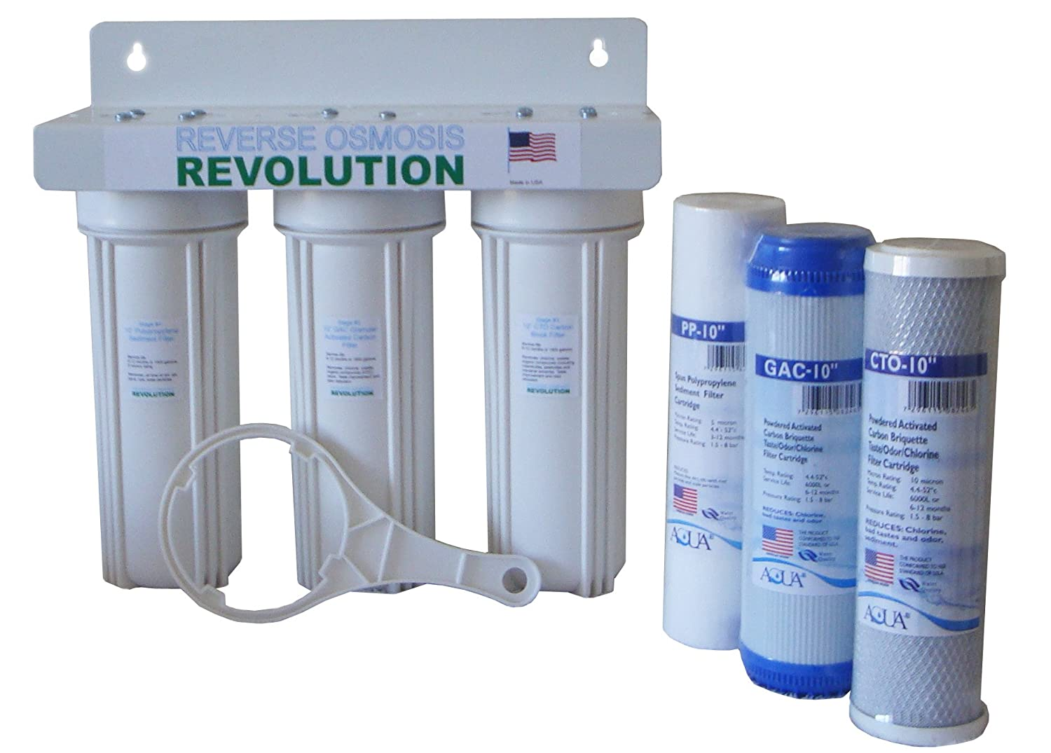House Water Filter Whole House 3 Stage Water Filtration System 1 2 Port Works With