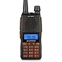 BaoFeng GT-5TP Dual Band Amateur Ham Radio Handheld Walkie Talkie with Earpiece + 2000mAh Battery + Dual PTT