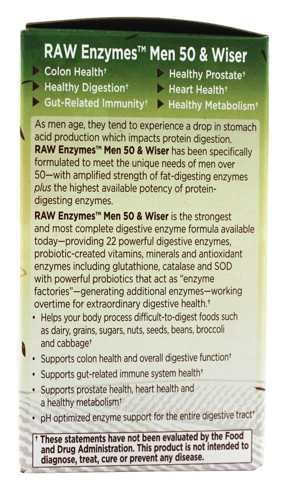 Amazon.com: Jardín de la vida – Raw enzimas Hombres 50 & ...