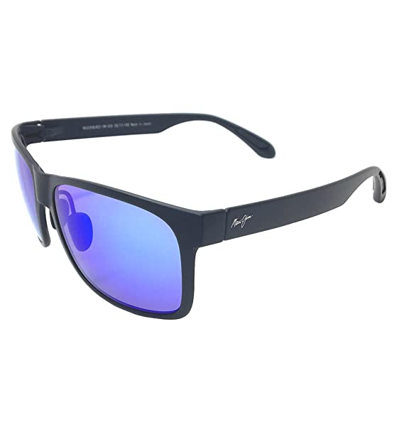 efc324b15e97 Maui Jim Red Sand B432-2M Matte Black /Blue Hawaii Polarized Sunglasses:  Amazon.ca: Clothing & Accessories
