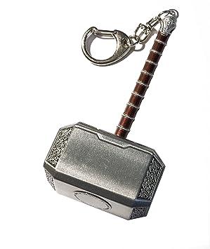 Outletdelocio. Llavero Martillo de Thor. Fabricado en metal. Longitud 100mm