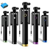 Mystique Mall Portable Selfie Stick & OTG Adaptor for Android/iOS Devices (Black)