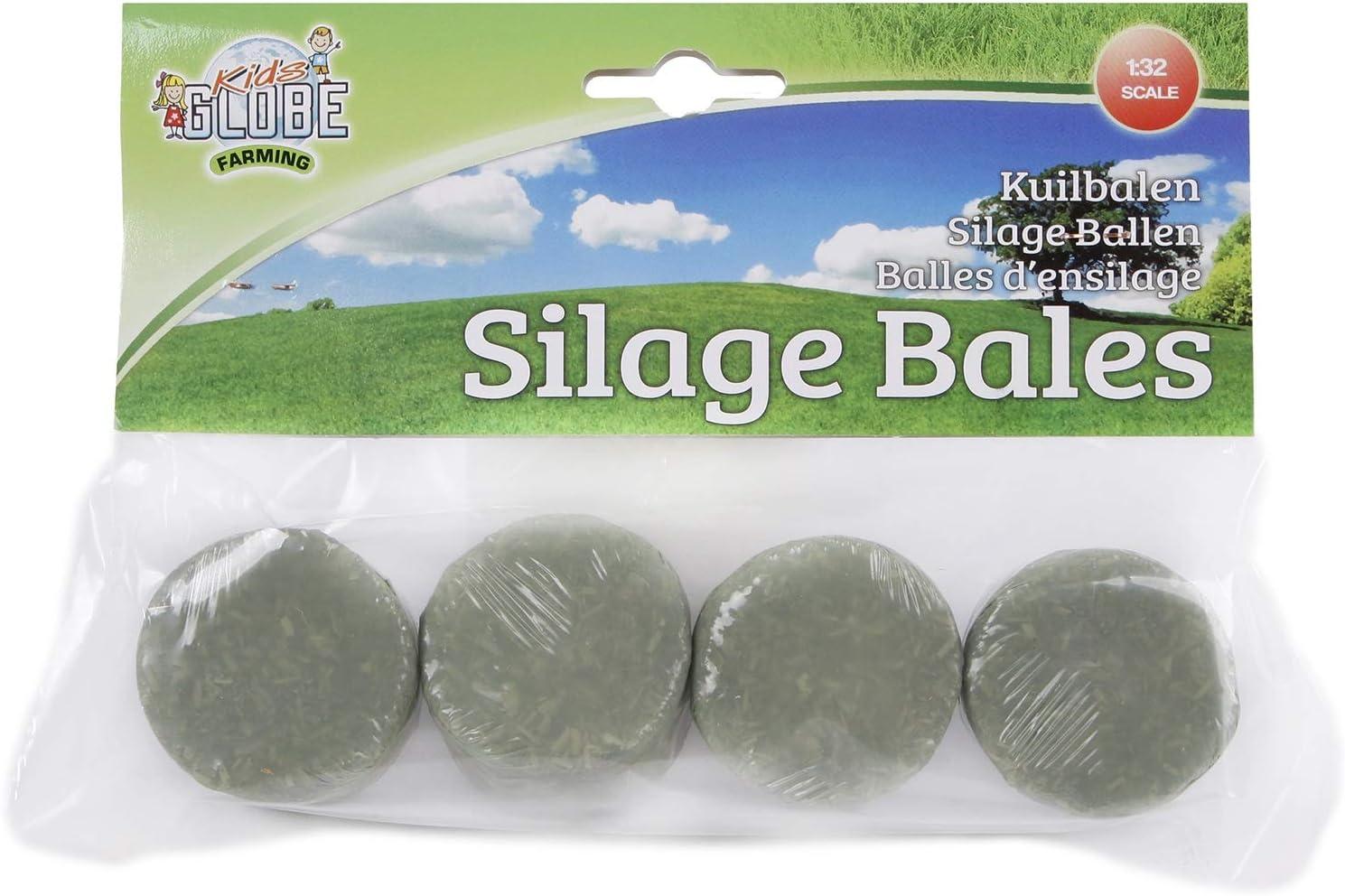 Kids Globe Silageballen Set 1 32 Ballen Rund Für Bauernhof Inhalt 4 Stück Spielzeug