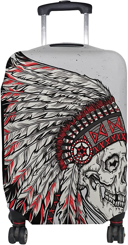 Native American Indian Art Prints Luggage Cover Travel Suitcase Protector Fits 18-21 Inch Luggage
