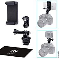 Hot Shoe Mount Adapter Kit - Attach Your Phone Or Gopro Hero To The Flash Mount Of Your Dslr Camera - Record Your Photo…