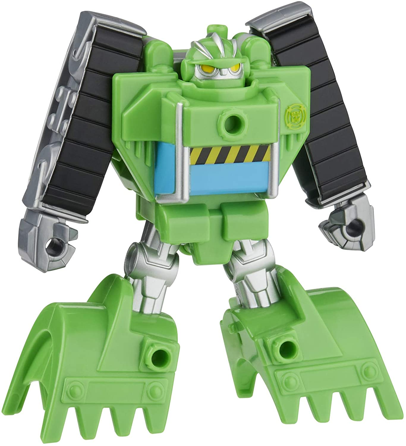 4.5 Inch Action Figure Toys for Kids Ages 3 and Up Playskool Heroes Transformers Rescue Bots Academy Boulder the Construction-Bot Converting Toy