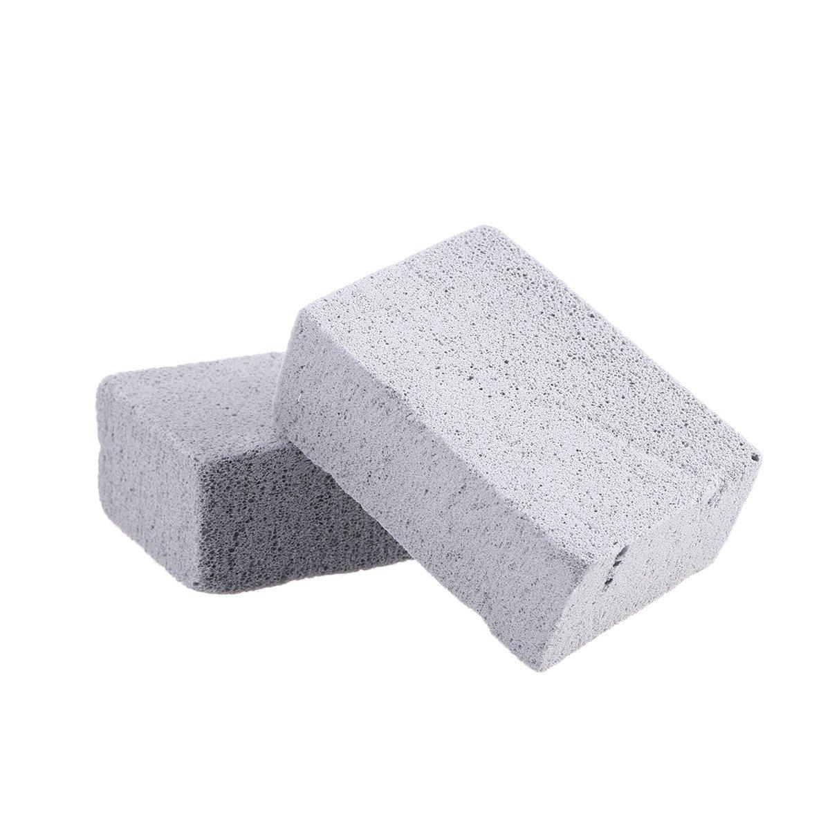 pierre ponce /écologique r/éutilisable et sans odeur BESTONZON Lot de 2/pierres de nettoyage de grill pour le nettoyage et d/étartrage de grilles et plaques