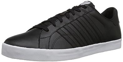 K-Swiss Men's Belmont Lace-Up Shoe, Black/White, ...