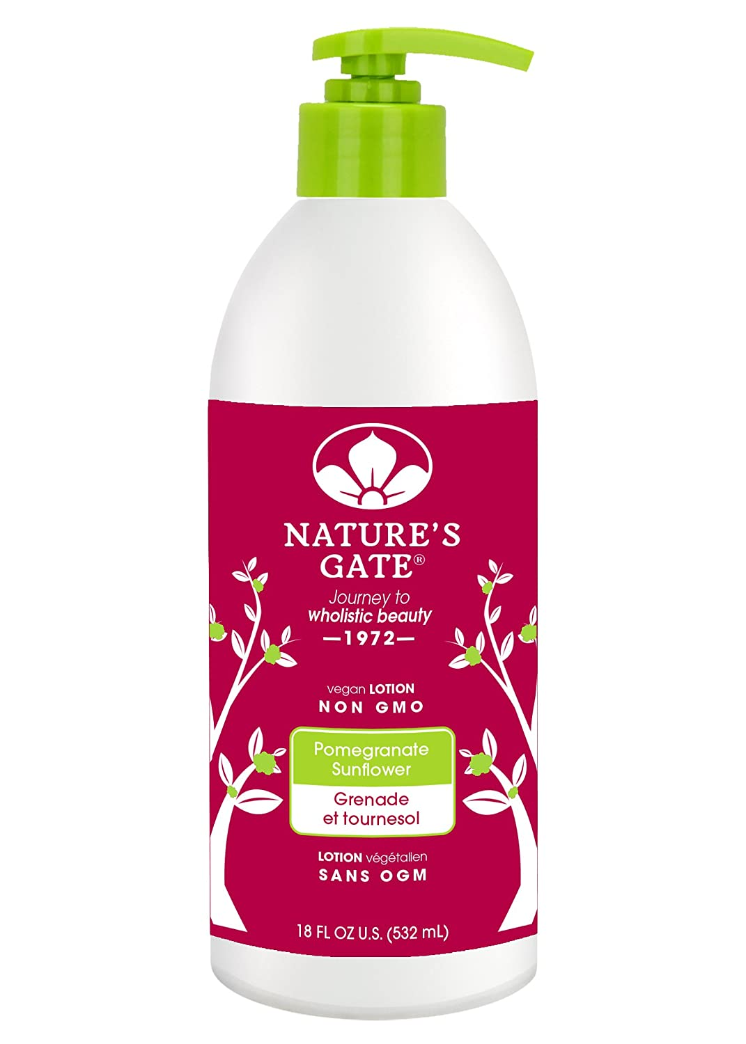 Nature's Gate Pomegranate Sunflower Defends and Nourishes Dry Skin Paraben Free, 18 Ounce