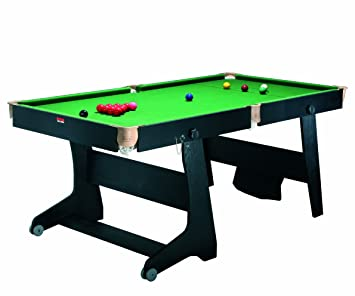 Riley Vertically Folding Ft Domestic Snooker Table Black Amazon - Fold out pool table