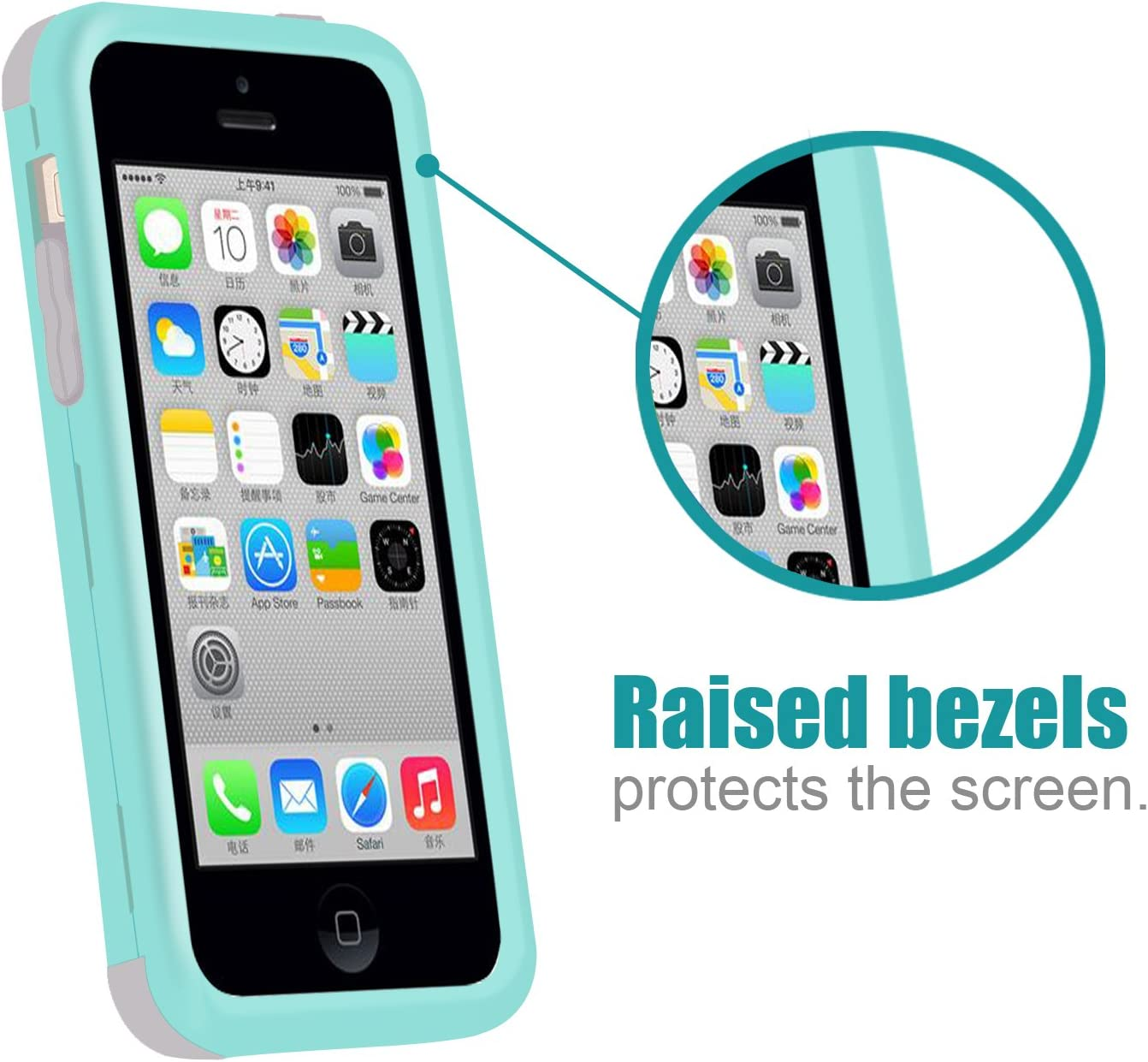 Dailylux Custodia iPhone 5CCustodia Ibrida a Protezione Integrale