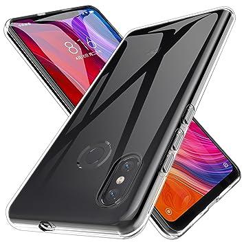 LK Xiaomi Mi 8 Funda, Carcasa Cubierta TPU Silicona Goma Suave Case Cover Play Fino Anti-Arañazos - Clara