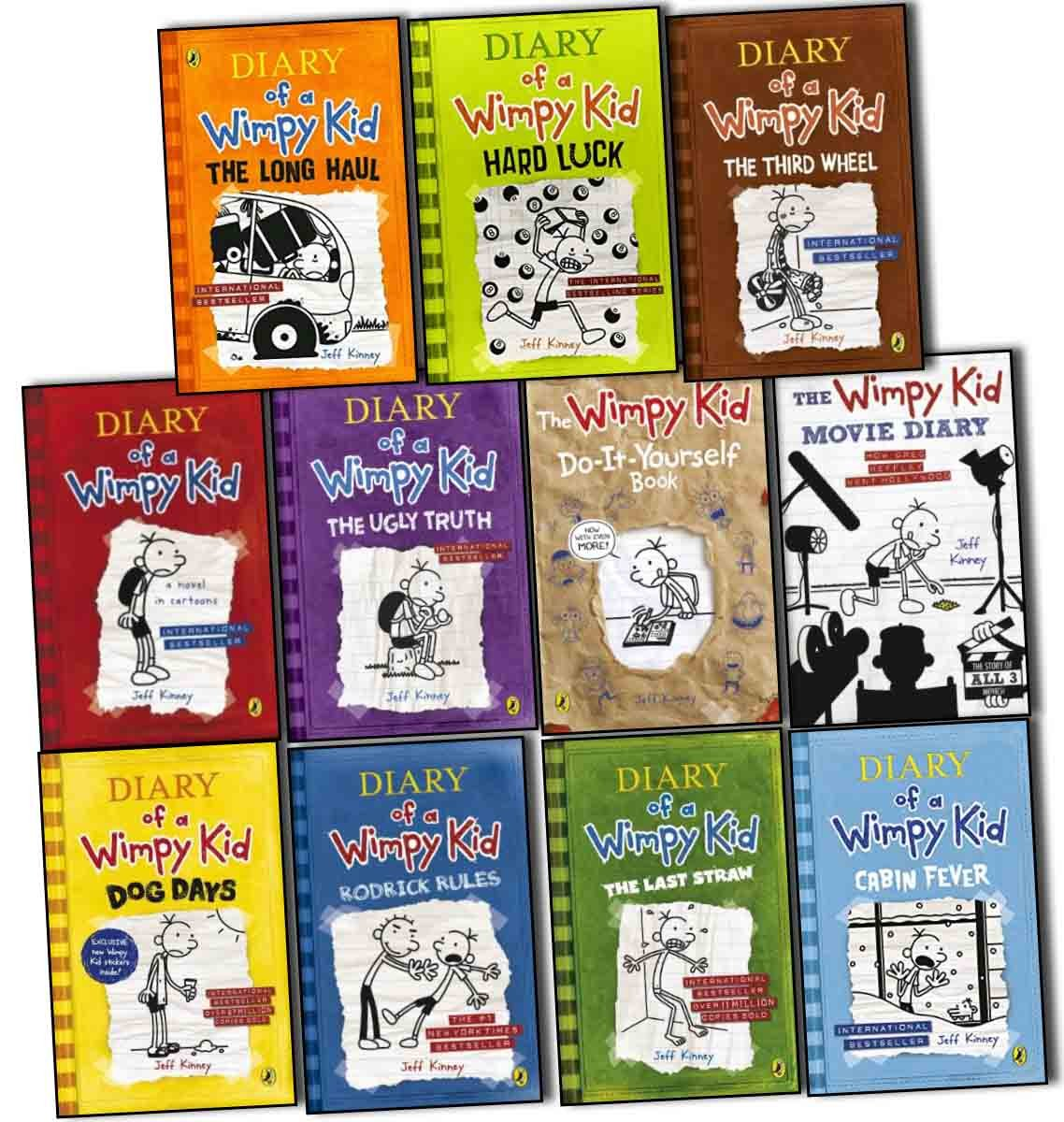 Diary of a wimpy kid collection 11 books set pack by jeff kinney diary of a wimpy kid collection 11 books set pack by jeff kinney rrp 9097 the long haul hard luck the third wheel cabin fever the ugly truth dog solutioingenieria Images