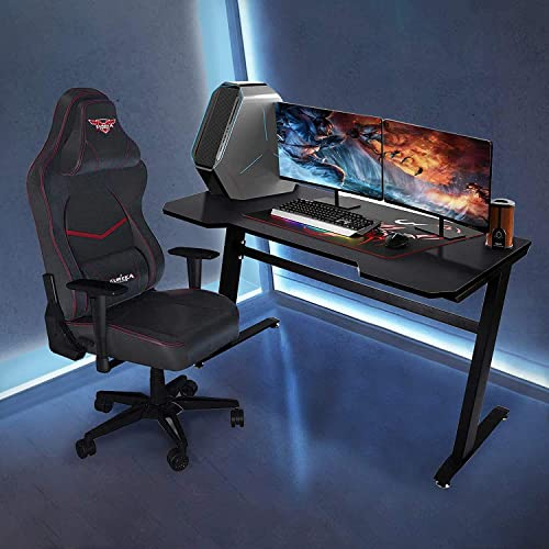 Gaming Desk 47.2″ Computer Gaming Desk Gamer Racing Style Office Table PC Workstation Game Station