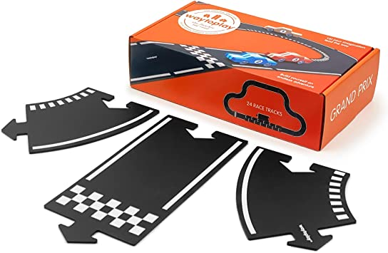 16 pieces waytoplay expressway black with white striping