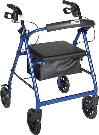 """Amazon.com: Aluminio Rollator con ruedas de 7.5"""", R8BL ..."""