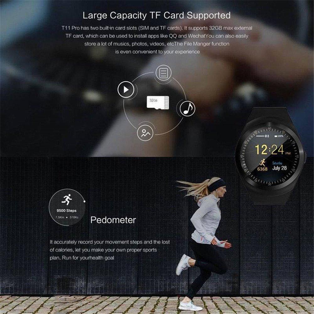 Amazon.com: Y1 visualización redonda reloj inteligente ...