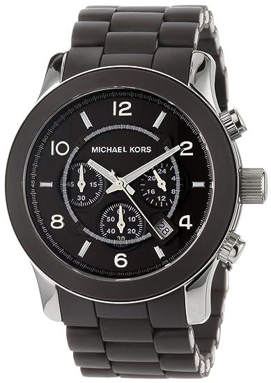 Michael Kors Reloj analogico para Hombre de Cuarzo con Correa en Caucho MK8129: Michael Kors: Amazon.es: Relojes